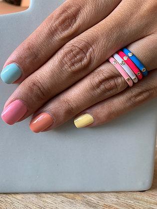 Enamel Colors Rings con ZC