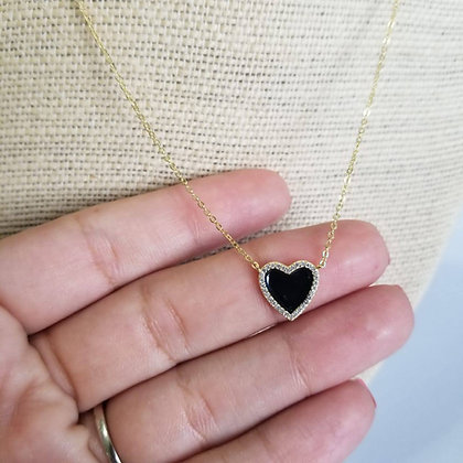 Cadena Plata de Corazón