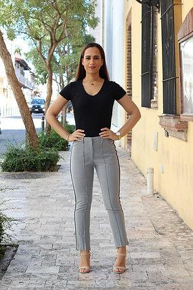 Pantalón con Detalle Lateral