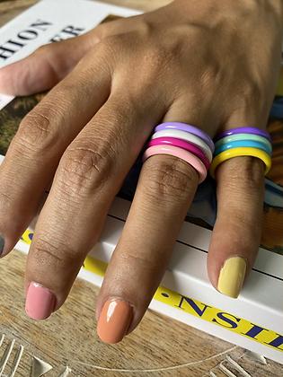 Enamel Colors Rings