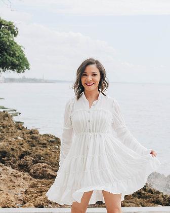 Vestido Corto Off White