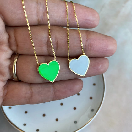 Cadena Corazón Neón