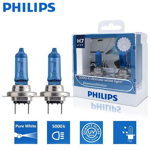 2X Philips H7 12V 55W PX26d Diamond Visio 5000K