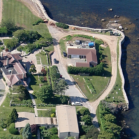 Southern aerial view of Enders Island