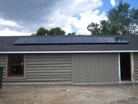 Solar array on garage