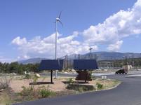 Solar Panels with a Wind Turbine