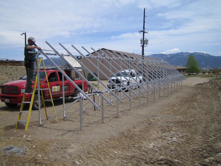 Large PV Panel Racking Installation