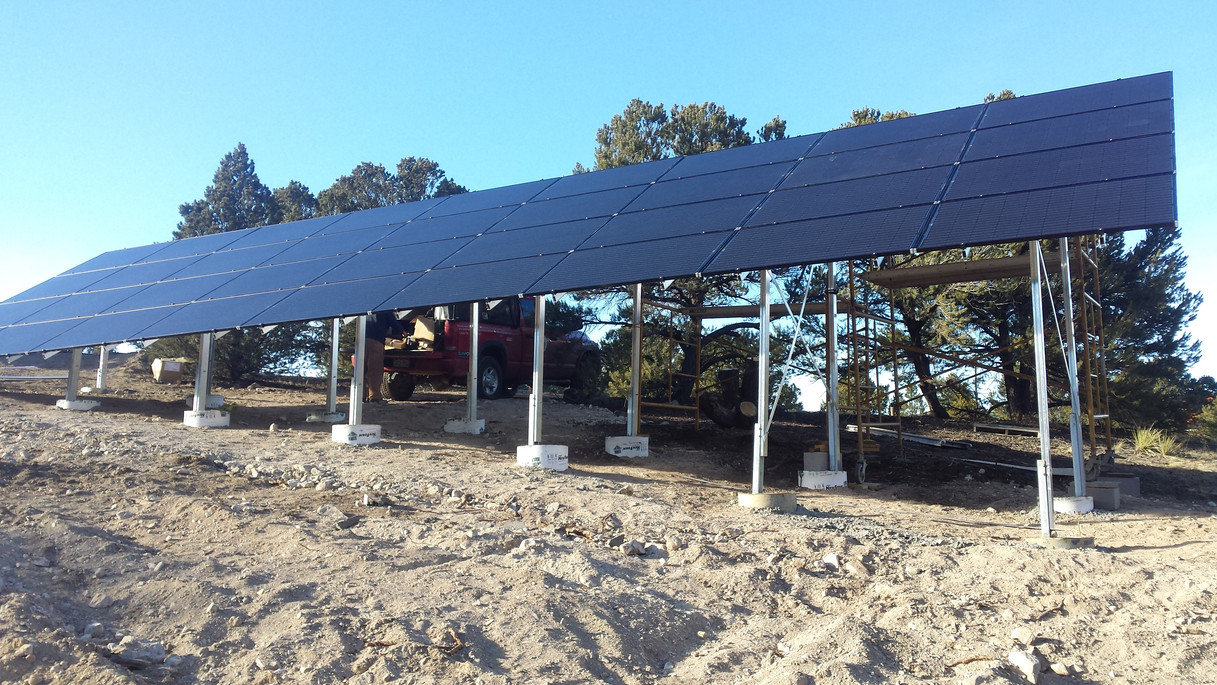 Completed Large PV Panel install