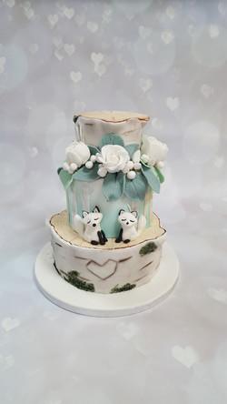 Enchanted Birch Tree Cake