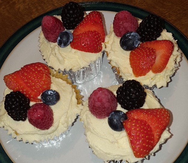Summer Fruit Cupcakes