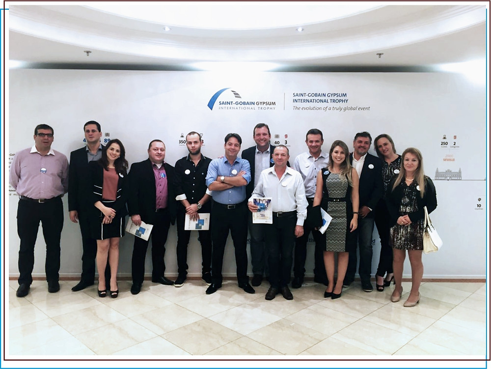Premiação Saint Gobain Gypsum International 2016 - Brasgips Curitiba