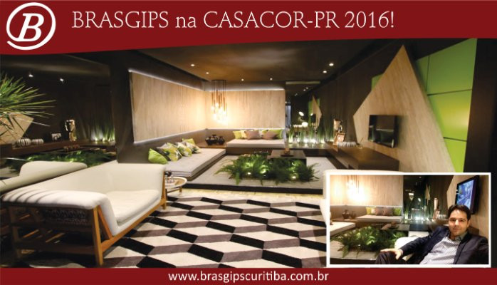 Brasgips Curitiba na CASA COR PR 2016!
