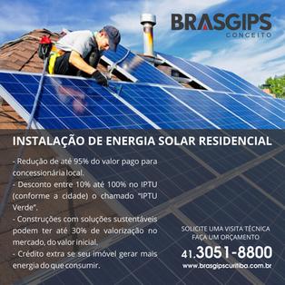 Energia Solar é na Brasgips!