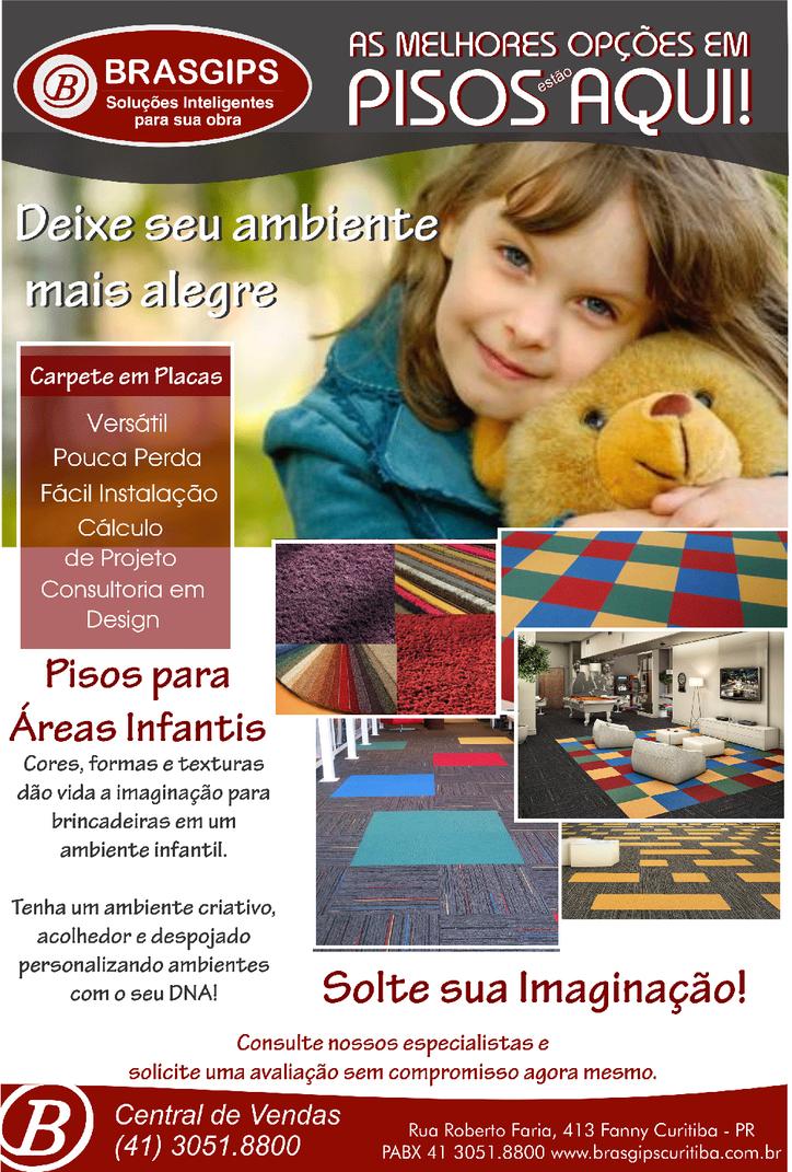 Pisos para espaços infantis - Brasgips