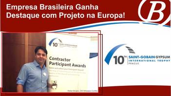 Brasgips Curitiba é Premiada com Projeto na  Europa!