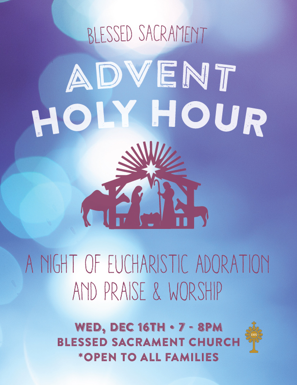 Event flyer for local ministry