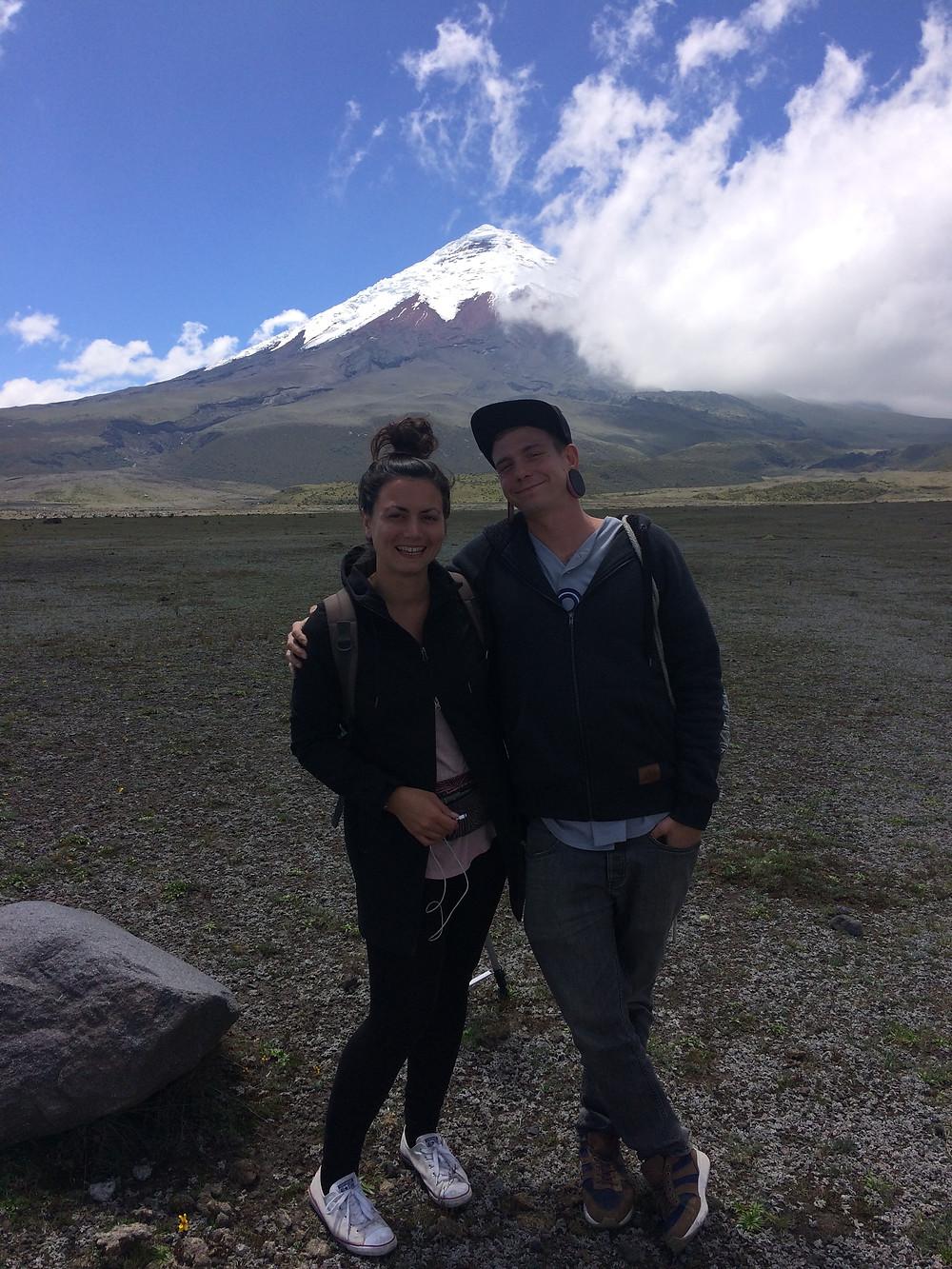 Mimi et Michaël au Volcan Cotopaxi
