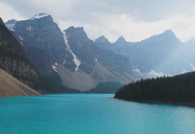 Lac Moraine, Alberta, Canada, REPÈRES
