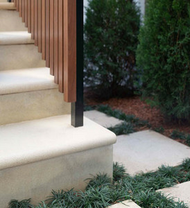 Sandstone stair treads with Bull Nose finish