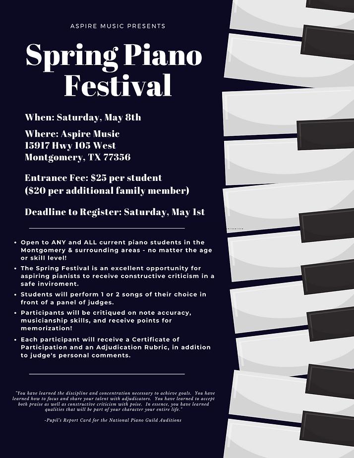 Copy of Dark Blue Piano Keys Jazz Poster