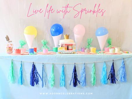 Sprinkles Party Ideas