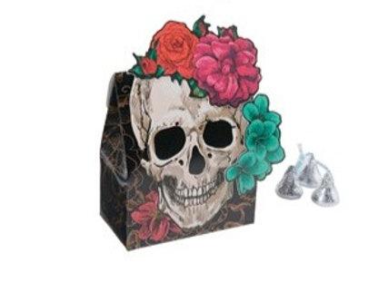 Skull Floral Favor Boxes