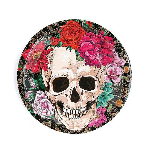 Skull Floral Plates