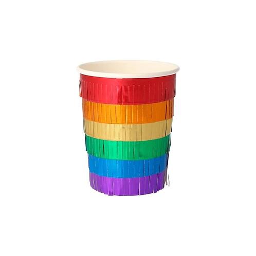 Rainbow Fringe Cups