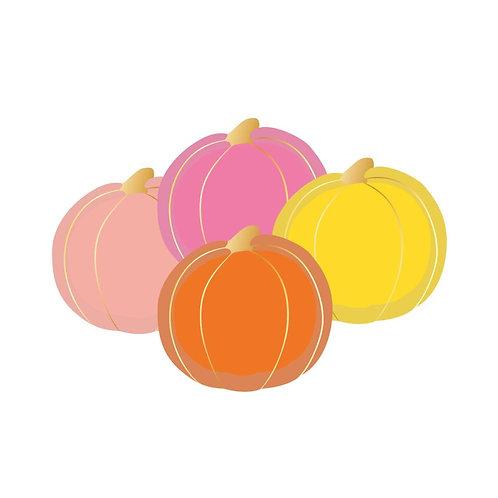 Colorful Pumpkin Plates