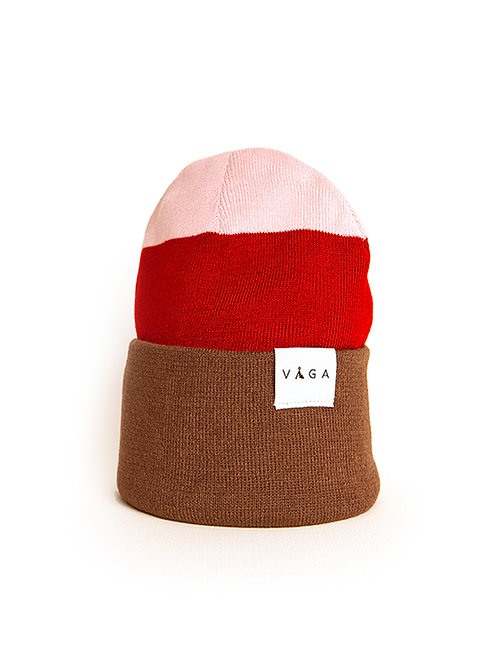 Fawn / Cherry Red / Pastel Pink