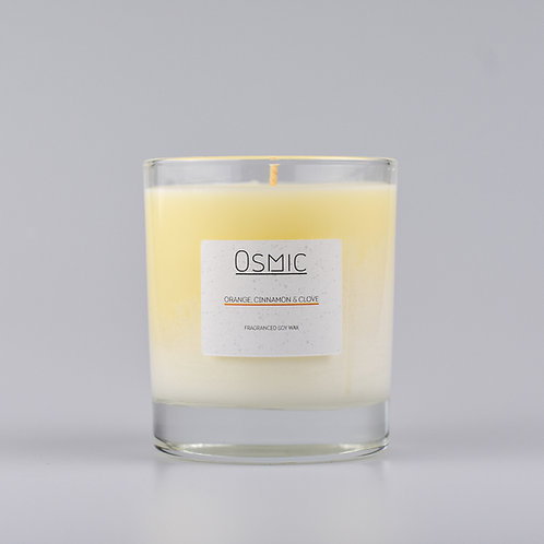 Orange, Cinnamon and Clove Soy Wax Christmas Candle