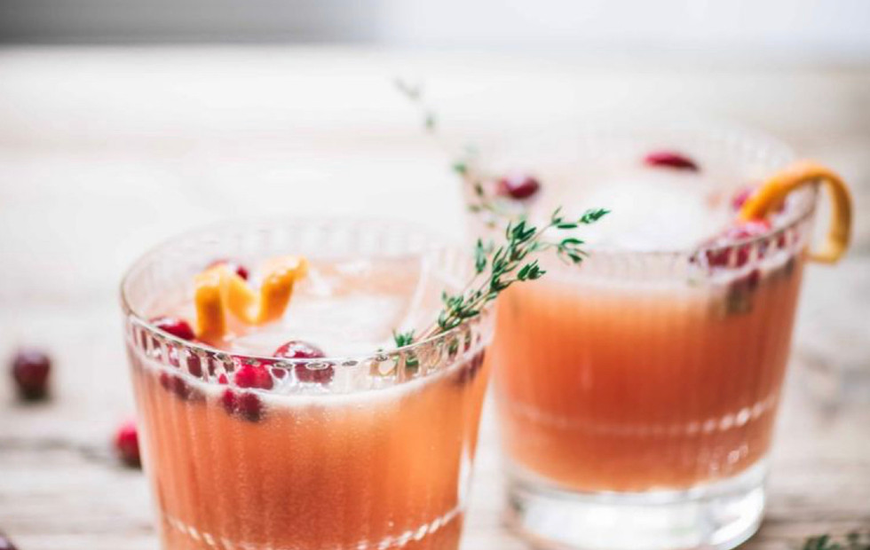 Spiced cranberry orange whiskey