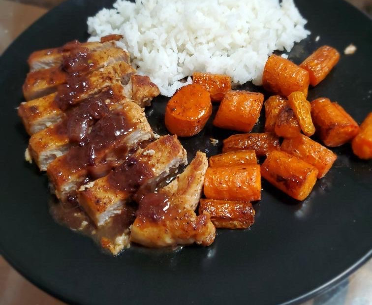 Blackberry Serrano pork chop