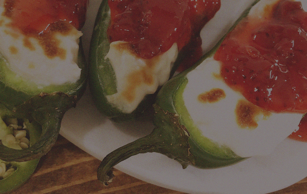 Strawberry Ghost Pepper Poppers