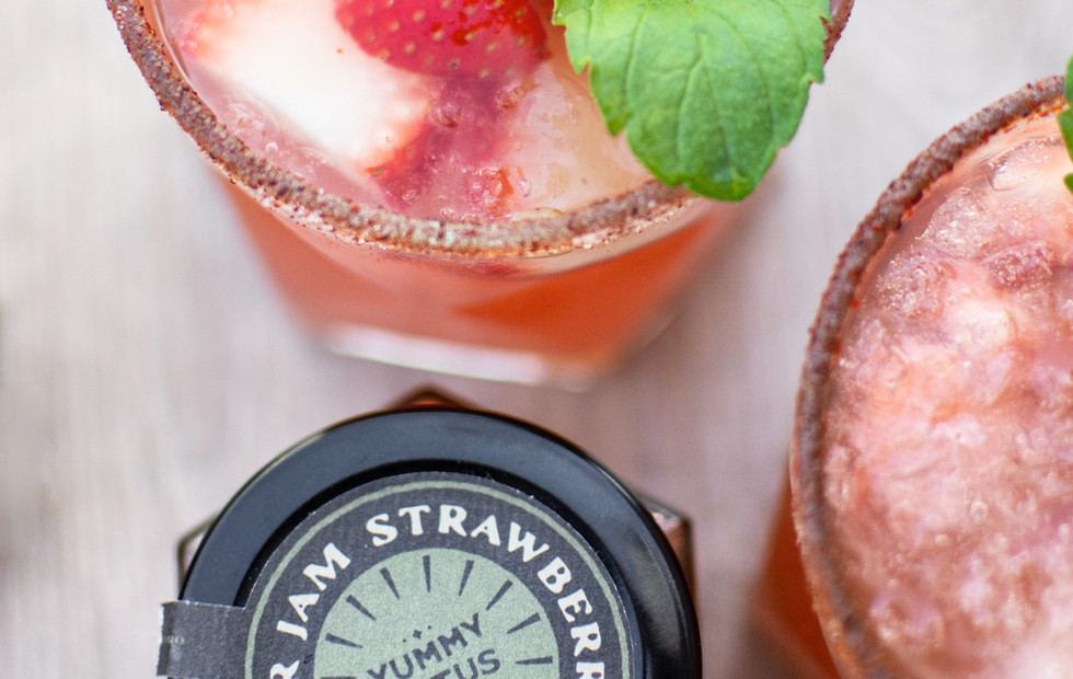 Spicy watermelon & strawberry Sangria