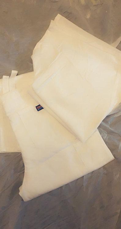Women's White Scrubs Set