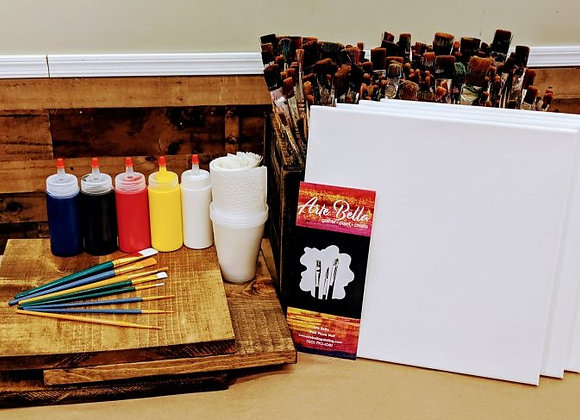 Family of Four Painting Kit