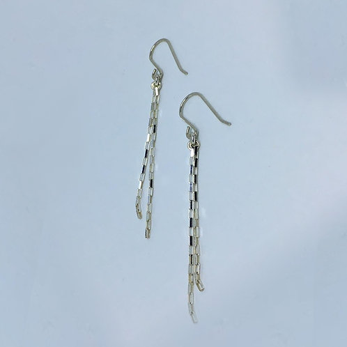 Sterling silver drop chain earrings