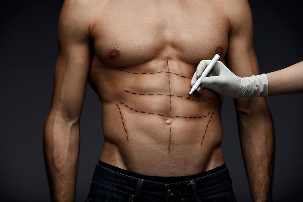 Plastic Surgery. Closeup Of Young Man's