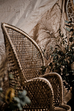 Boho Peacock Wicker Chair