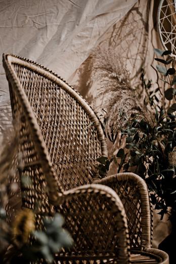 Boho Wicker Chair