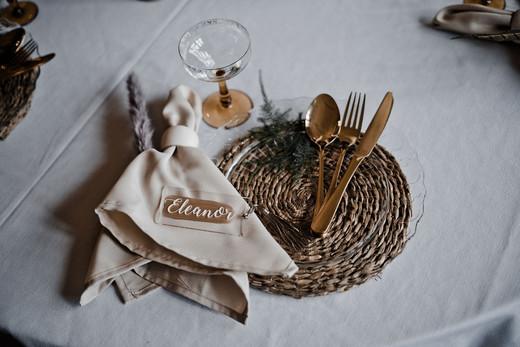 Wicker Place Mat Wedding
