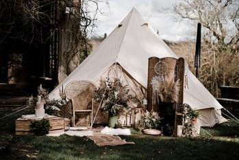 Boho Glamping Tent