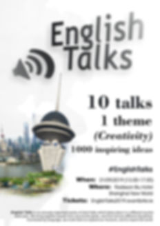 English Talks 2019 Shanghai poster - lig