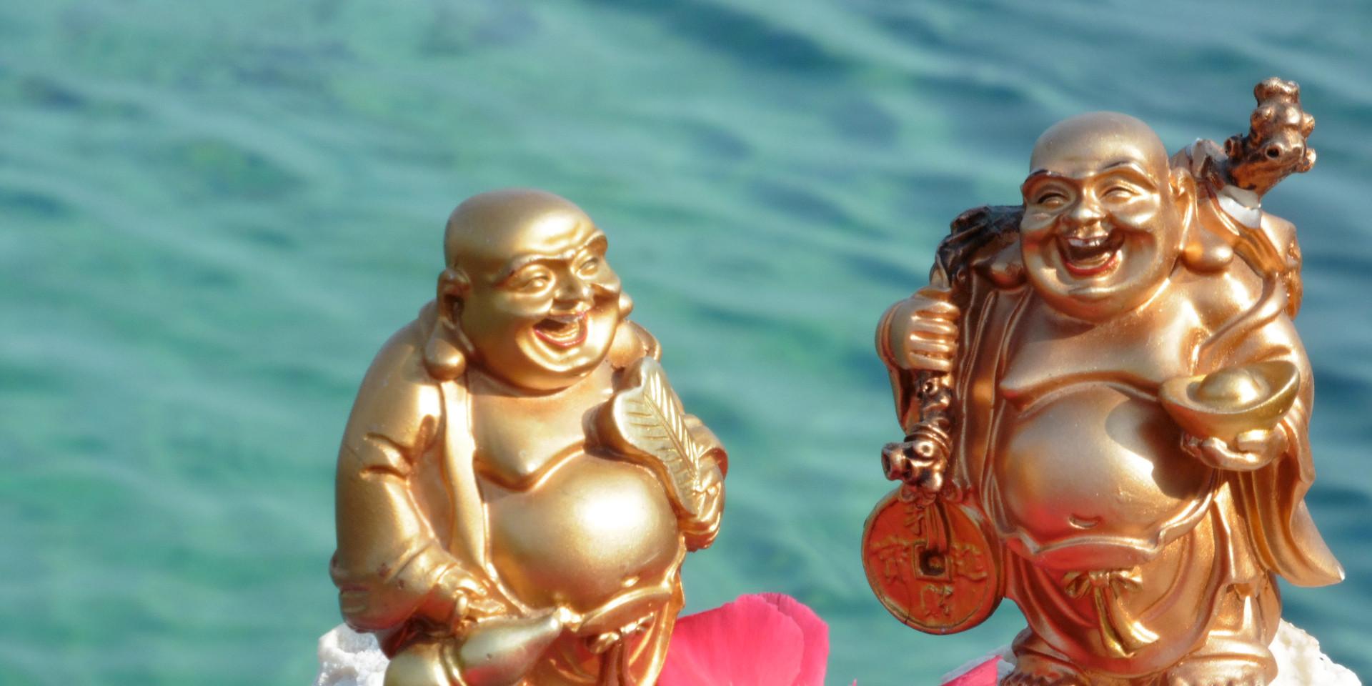 Laughing buddhas