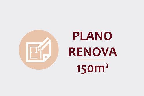 Plano Renova para ambientes até 150m²