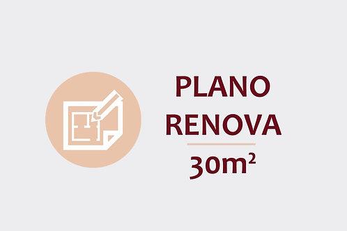 Plano Renova para ambientes até 30m²