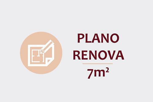 Plano Renova para ambientes até 7m²