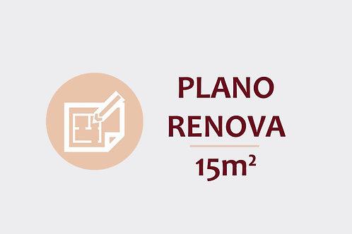Plano Renova para ambientes até 15m²