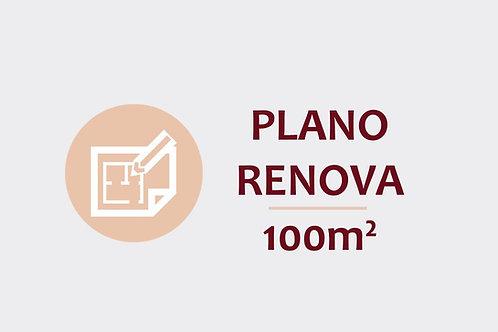 Plano Renova para ambientes até 100m²
